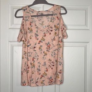 SO | Floral Print | Cold Shoulder | Relaxed Fit